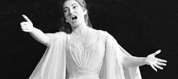 Maria Callas, a masterful bel canto singer, performs in the title role of Bellini's Norma in Paris, May 23, 1964